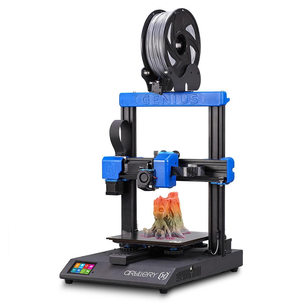 Tüzérségi Genius 3D nyomtató 220 * 220 * 250 mm ultra-csendes léptetőmotor TFT érintőképernyő