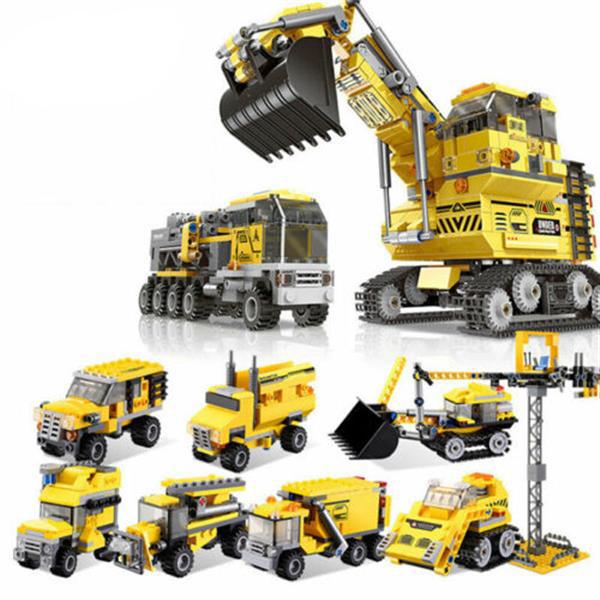 XINGBAO 13002 8 en 1 blocs de construction pelle puzzle jouets