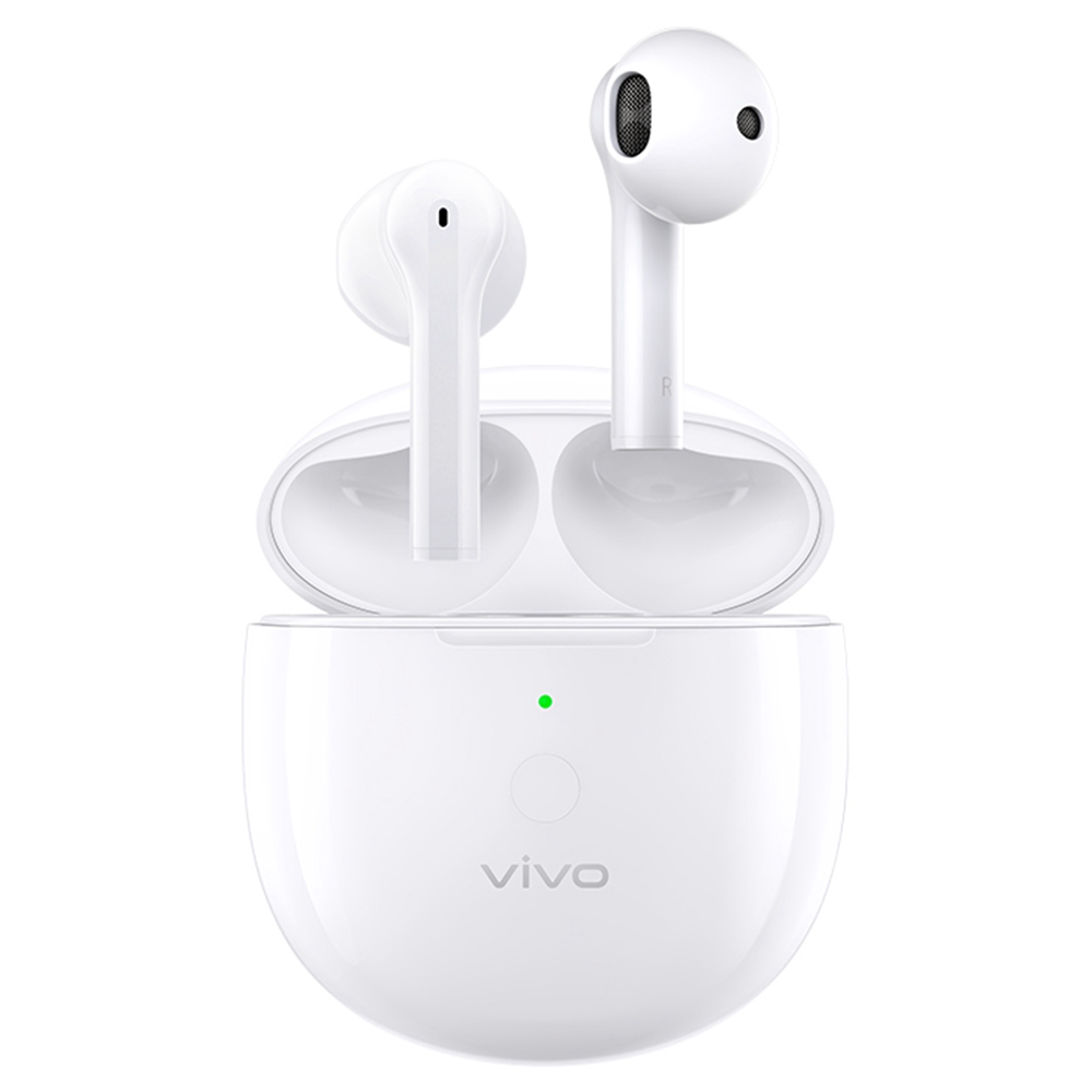 VIVO TWS Neo Bluetooth 5.2 TWS Earphones Qualcomm Aptx Adaptive AI Noise Cancelling DeepX Stereo Sound In Ear Detection - White
