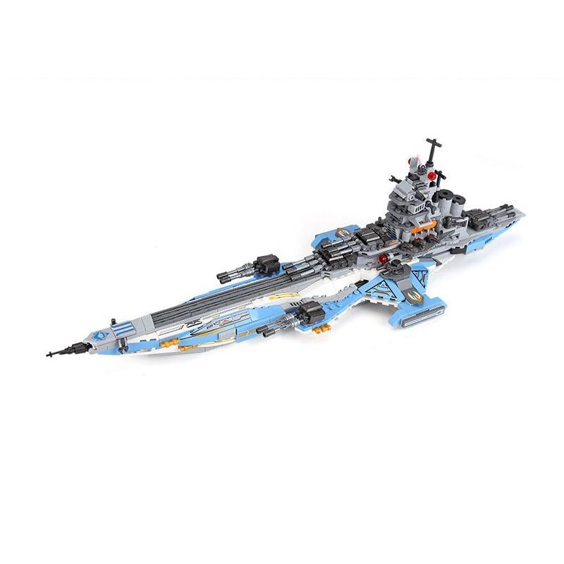 XINGBAO 13001 Space Battleship 8 en 1 Building Block Puzzle Jouets