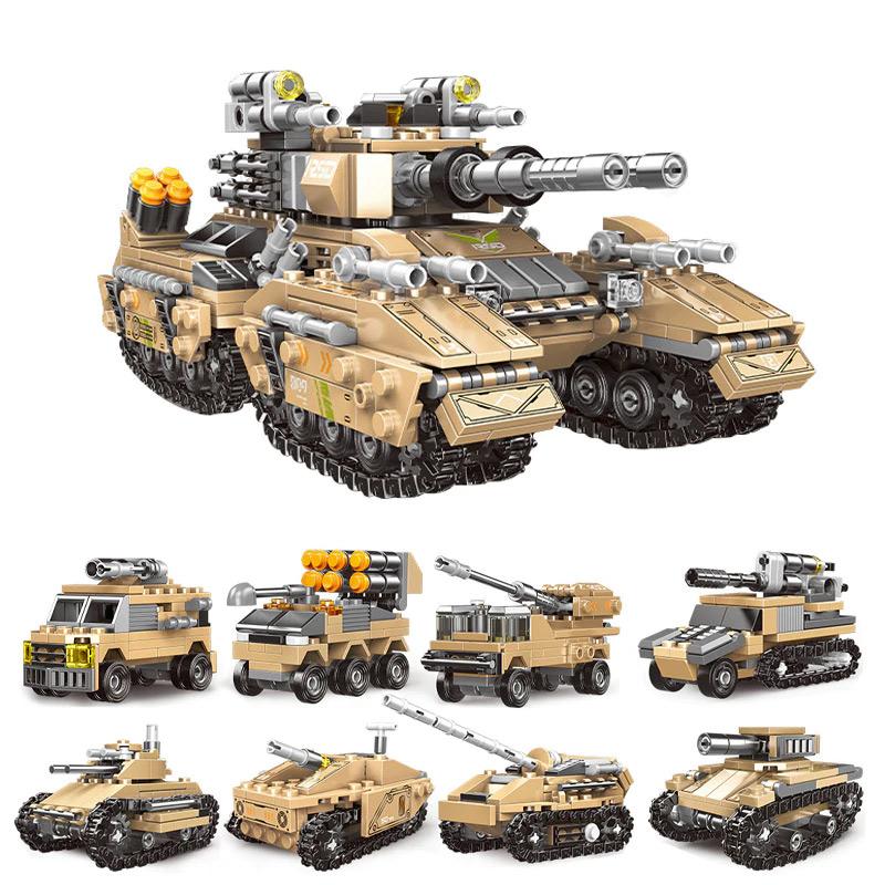 XINGBAO 13005 8 in 1 Building Block Mirage Tank Puzzle ของเล่น