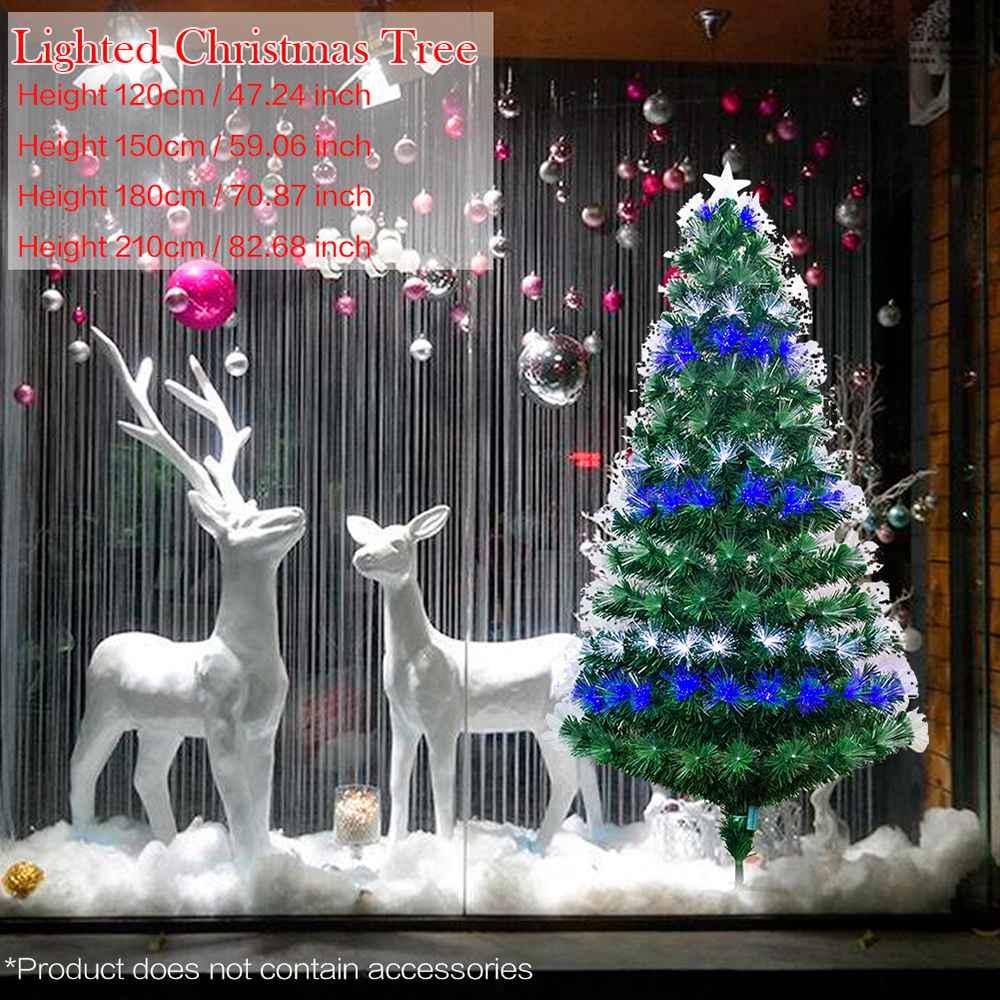 Χριστουγεννιάτικα δέντρα Qnlly Τεχνητά πεύκα με μεταλλική βάση ιδανική για εσωτερική διακόσμηση εξωτερικού χώρου 120Cm / 150Cm / 180Cm - Πράσινο