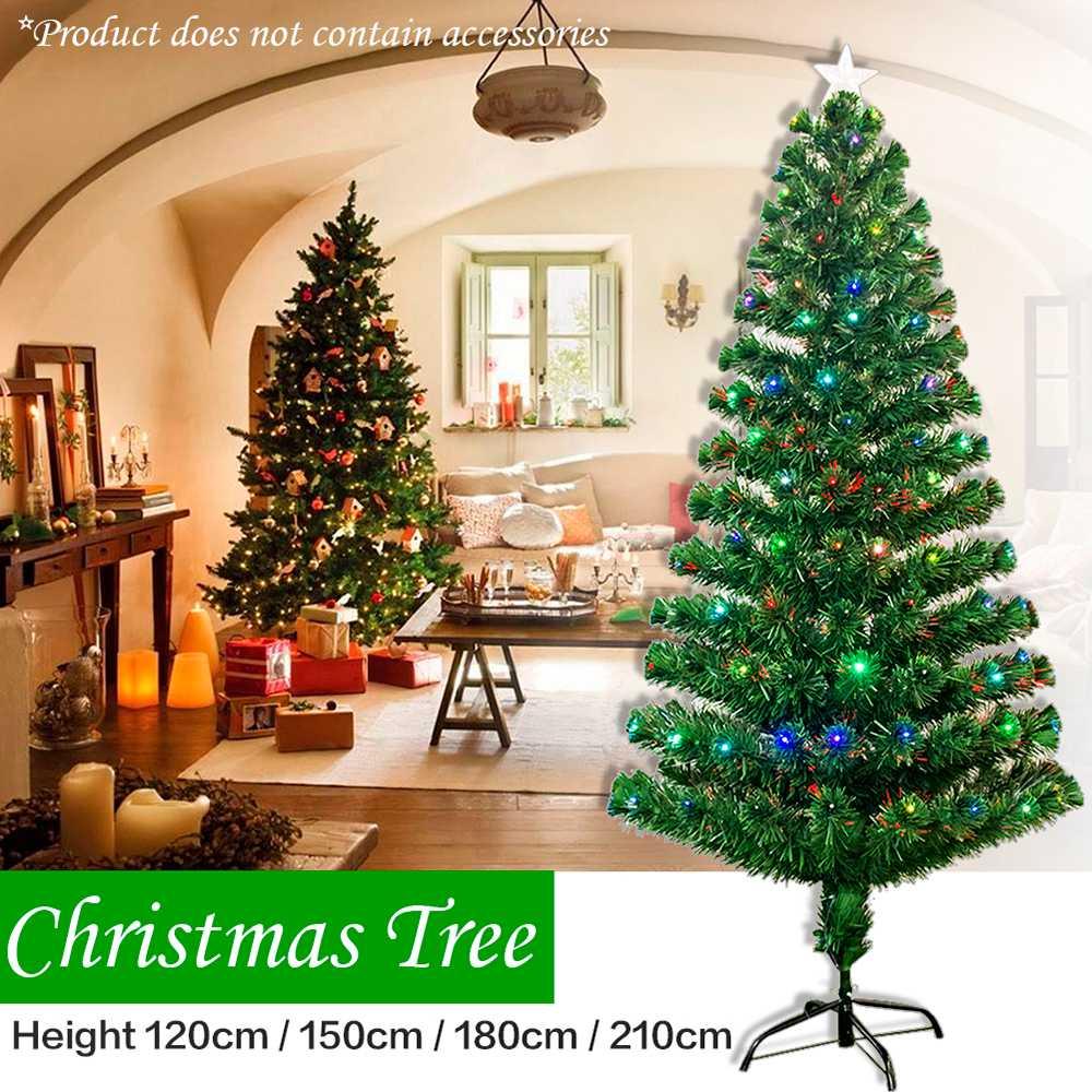 Nlly Christmas Pine Trees Traditional Indoor Artificial Decoration Tree 120cm/150cm/180cm/210cm British Plug - Green
