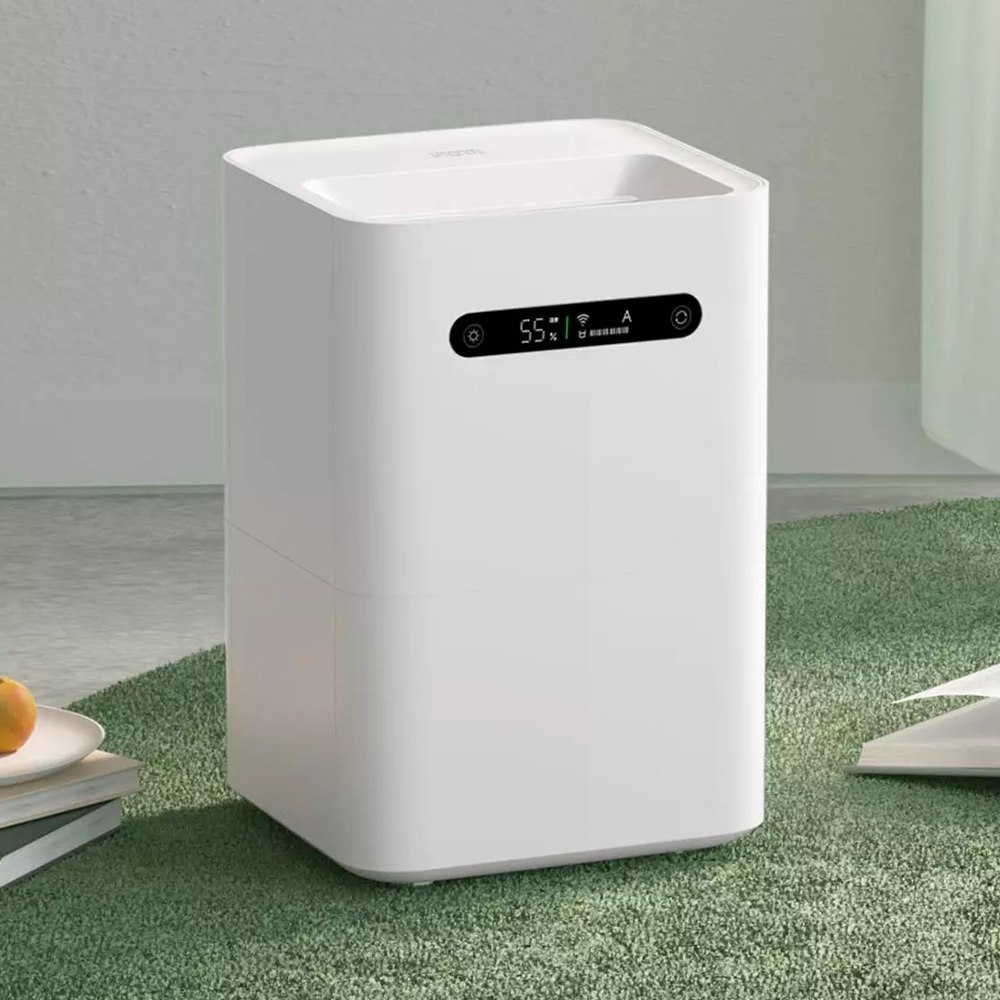 Humidificateur d'air d'évaporation Xiaomi Smartmi 2 4L grande capacité 99% écran intelligent antibactérien Mi Home APP Control - Blanc