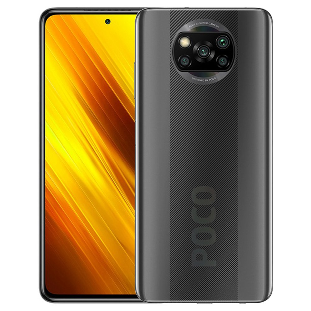 Xiaomi POCO X3 Global Version 4G Smartphone 6.67 Inch Screen Snapdragon 732G 6GB RAM 128GB ROM 64MP AI Quad Camera 5160mAh Battery NFC - Gray