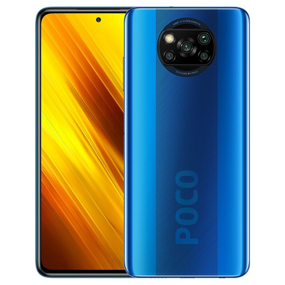 Xiaomi POCO X3 Global Version 4G Smartphone 6.67 Inch Screen Snapdragon 732G 6GB RAM 64GB ROM 64MP AI Quad Camera 5160mAh Battery NFC - Blue