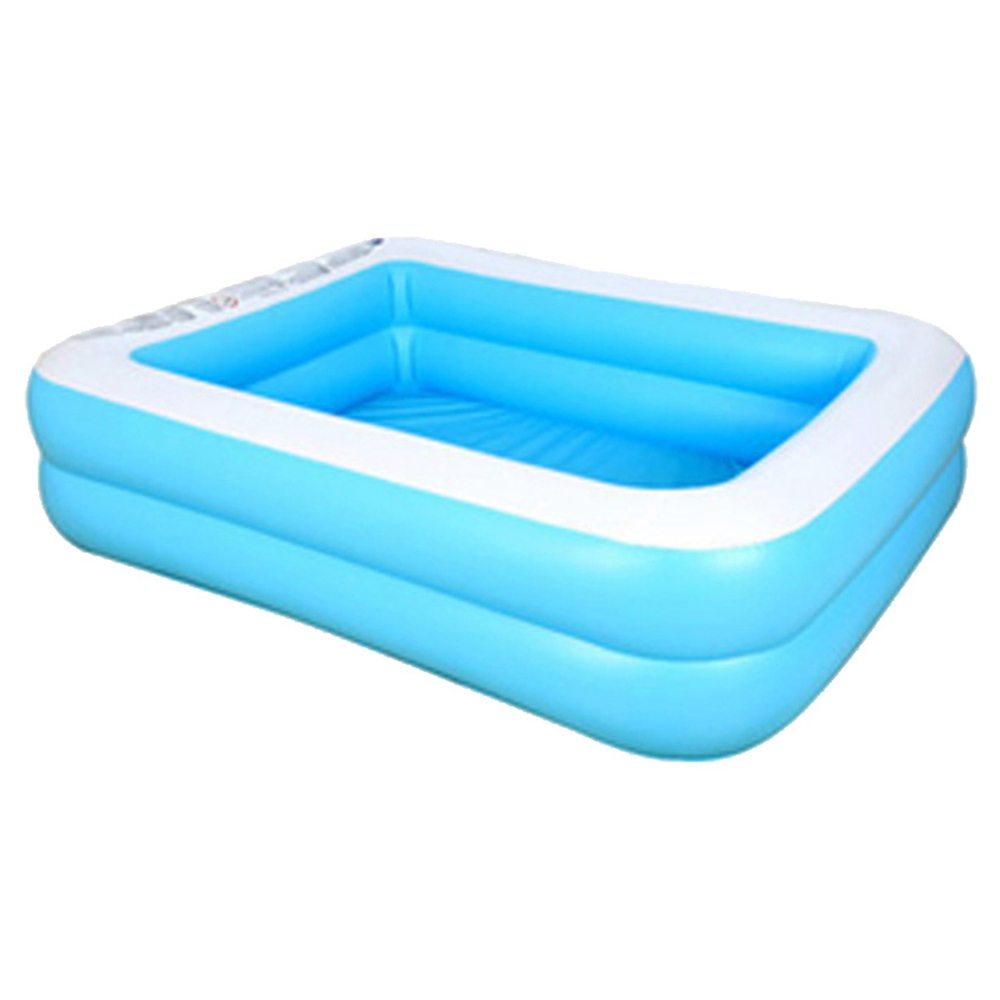 Kids Inflatable Swimming pool baby Adult Home Paddling pool Thick Wear-resistant 110*88*33cm / 43.31*34.65*12.99 inch Blue White