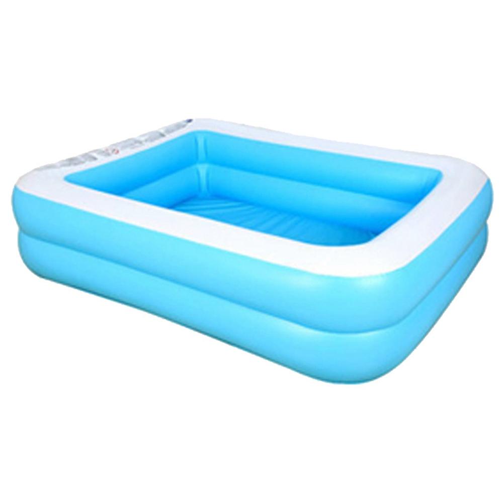 Gyerekek felfújható medence baba felnőtt ház pancsoló vastag kopásálló 181 * 141 * 46cm / 71.26 * 51.51 * 18.11 hüvelyk kék fehér