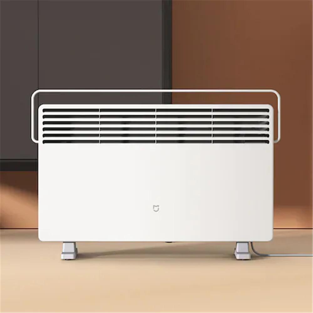 XiaomiMIJIAスマート電気ヒーター加温ファンエアコン暖房2200W3ギア温度制御プレートIPX4防水サーモスタットバージョン-ホワイト