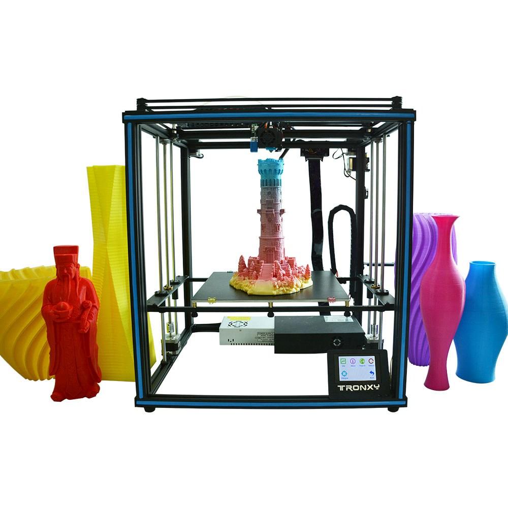 Tronxy X5SA-400 Высокоточный 3D-принтер DIY Kit 400 * 400 * 400 мм экструдер Titan Ультра бесшумная материнская плата