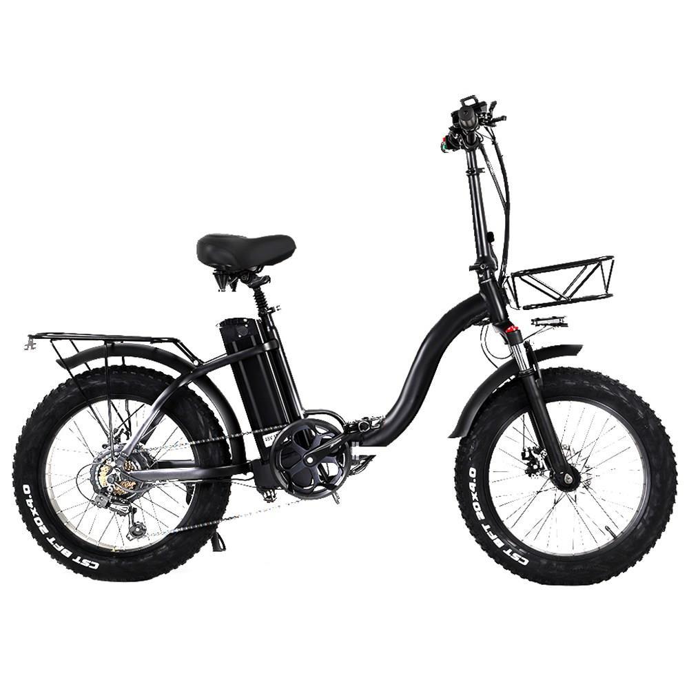 CMACEWHEEL Y20 Электрический мопед Велосипед 20 x 4.0 Толстые шины Пять скоростей 750 Вт Мотор 15 Ач Батарея Умный дисплей Спицевые колеса - черный