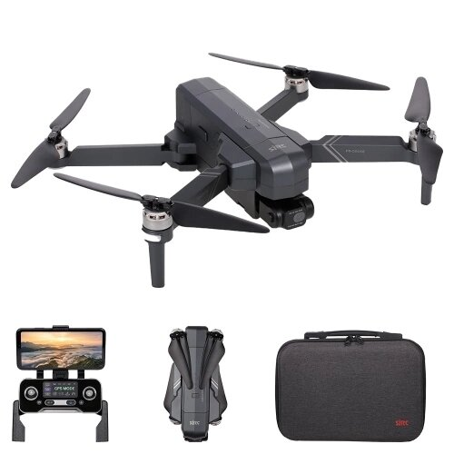SJRC F11 4K Pro GPS 5G WIFI 1.2KM FPV Drone RC plegable con estabilizador electrónico de 2 ejes Gimbal RC Drone sin escobillas RTF - Dos baterías con bolsa