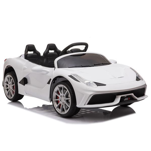 12V Kids Ride On Sports Car 2.4GHZ Τηλεχειριστήριο με λειτουργία LED Light Music - Λευκό