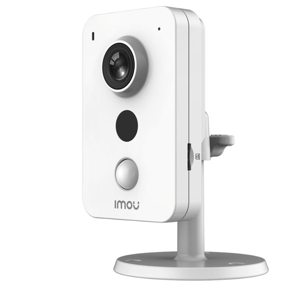 Dahua IMOU Cube 4MP IPC-C22EP Telecamera IP Rilevamento PIR Sorveglianza allarme esterno Conversazione bidirezionale Connessione Wi-Fi Monitor di sicurezza azienda domestica - Bianco