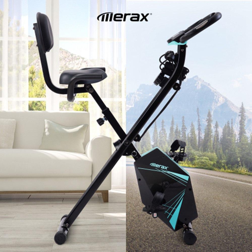 Merax Πτυσσόμενο ποδήλατο γυμναστικής με οθόνη LCD ρυθμιζόμενες ζώνες ύψους και αντίστασης βραχίονα για εσωτερική προπόνηση