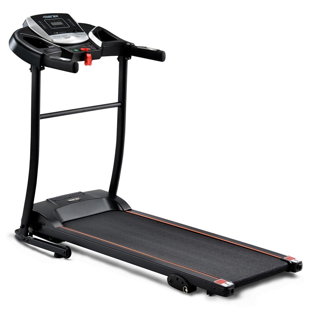 Merax Treadmills Εσωτερική χρήση αναδιπλούμενη με προεπιλεγμένα επίπεδα ταχύτητας / USB / AUX / Bluetooth / LED