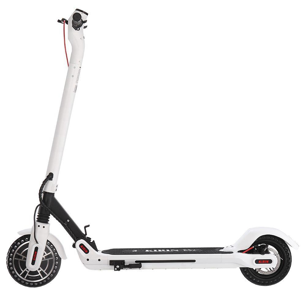 KUGOO ES2 Folding Electric Scooter 350W Motor LED Display Screen Max 25KM/H 8.5 Inch Tire - White