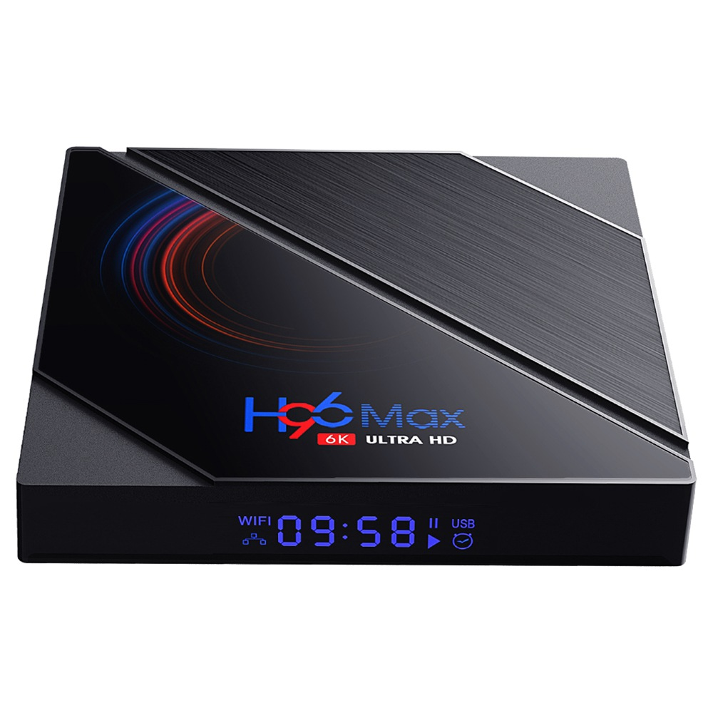 H96 MAX H616 4GB / 64GB Android 10 TV Box Android 10.0 Allwinner H616 2.4G + 5.8G WiFi 100Mbps LAN bluetooth