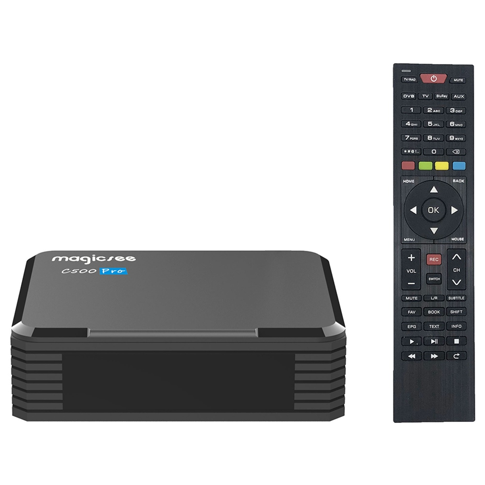 MAGICSEE C500 PRO DVB-S2 / S2X / T2 2GB / 16GB Amlogic S905X3 Android 9.0 TV BOX 2.4G + 5G WIFI Bluetooth2.5インチSSD / HDDベイPVR録画