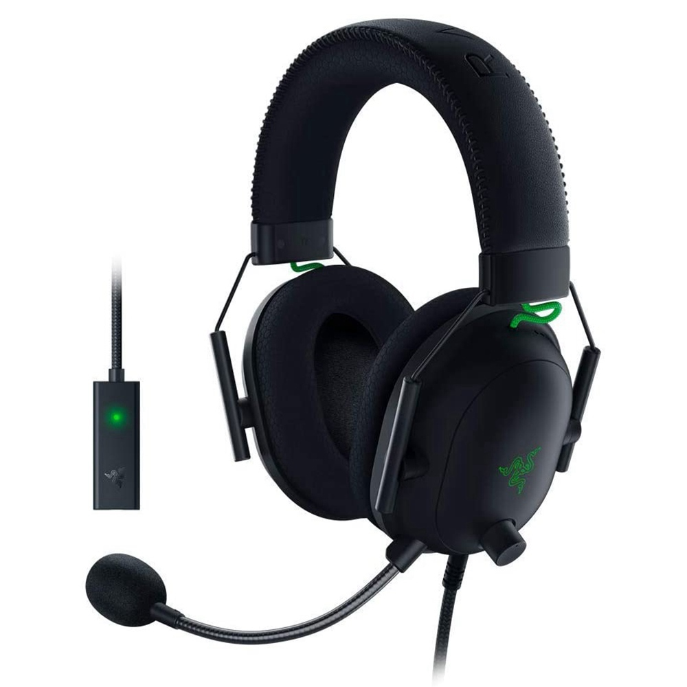 Cuffie da gioco Razer BlackShark V2 THX 7.1 Surround Sound Driver da 50 mm Microfono staccabile Jack audio da 3.5 mm