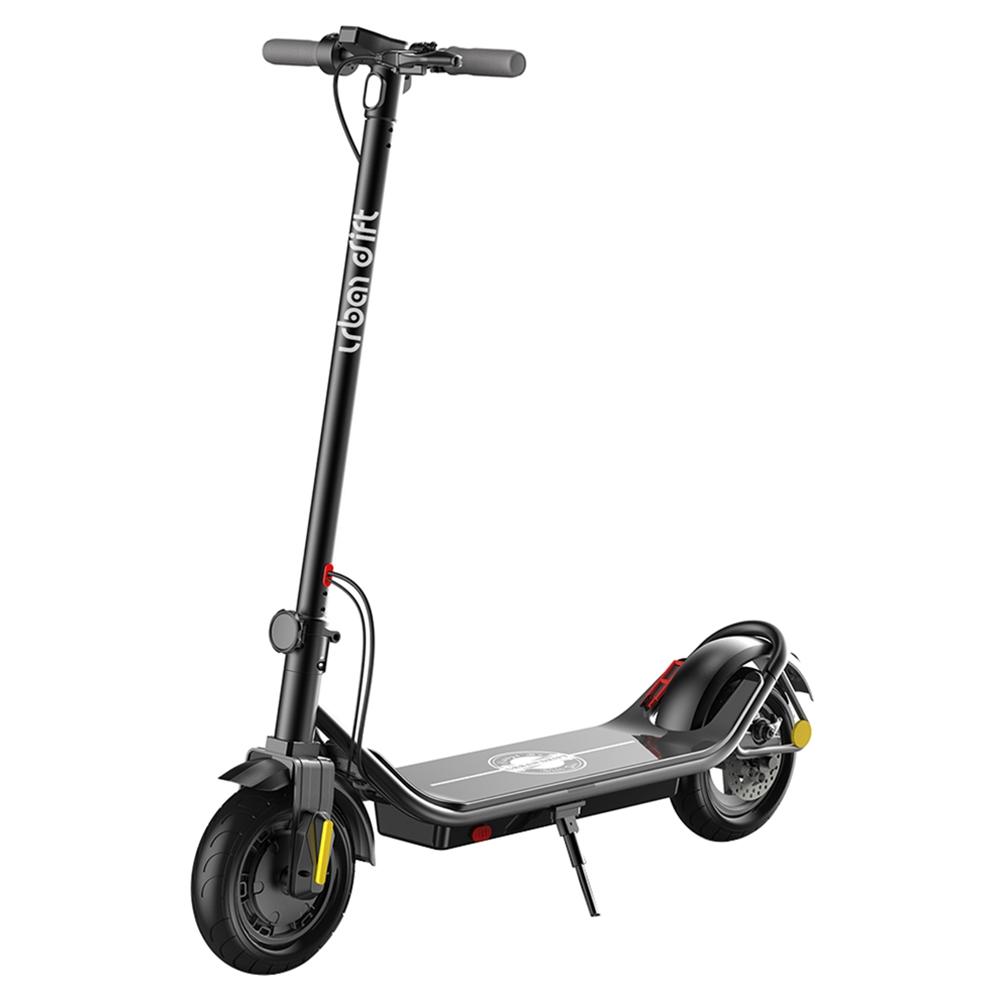 Urban Drift S006 10-дюймовый электрический скутер 10Ah Корпус из алюминиевого сплава 350W Мотор Задний дисковый тормоз 25 км / ч - черный