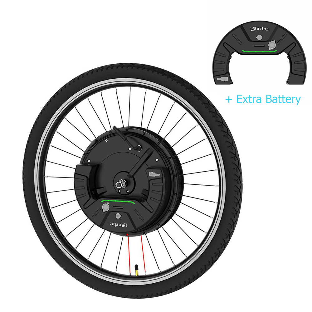 iMortor3  Permanent Magnet DC Motor Bicycle Wheel 26 Inch With App Control Adjustable Speed Mode Disk Break with Extra Battery - EU Plug