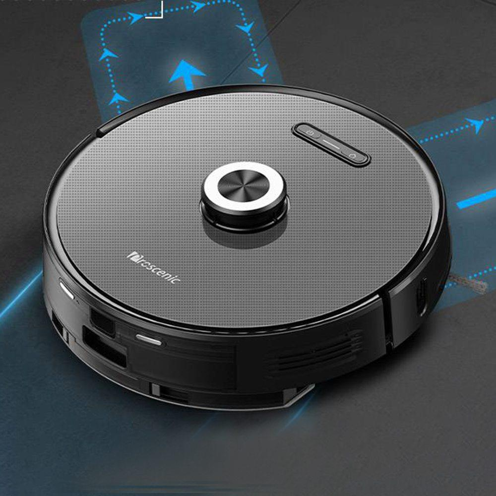 Proscenic M8 Pro Smart LDS Robot Vacuum Cleaner με Laser Navigation 2700Pa Suction 5200mAh Battery 2 in 1 Mopping and Sweeping APP Remote Control + Dust Collector - Black