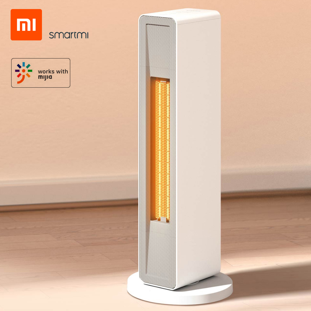 SmartMi Electric Air Heater with Wireless Remote Control、2000W Power、Ceramic Heating Element、Wi-Fi and Mijia App Support for Living Room、Office、Home by Xiaomi Youpin