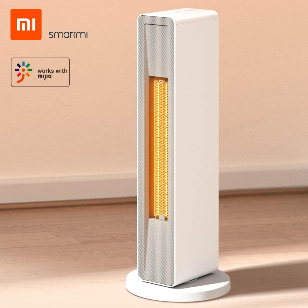 Riscaldatore ad aria elettrico SmartMi con telecomando wireless, potenza 2000 W, elemento riscaldante in ceramica, Wi-Fi e supporto app Mijia per soggiorno, ufficio, casa di Xiaomi Youpin