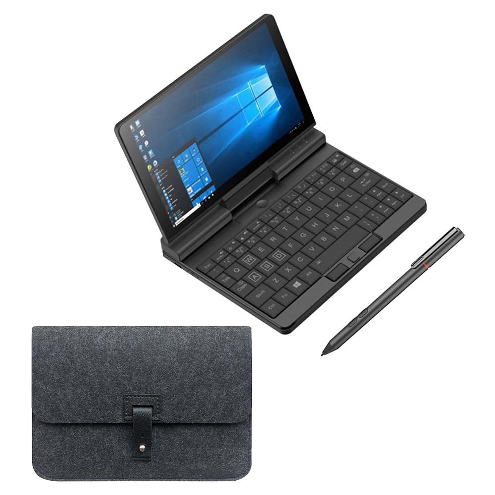 Un netbook A1 360 degrés 2 en 1 ordinateur portable de poche Intel M3-8100Y 8 Go de RAM 256 Go PCIe SSD + stylet d'origine + étui de protection