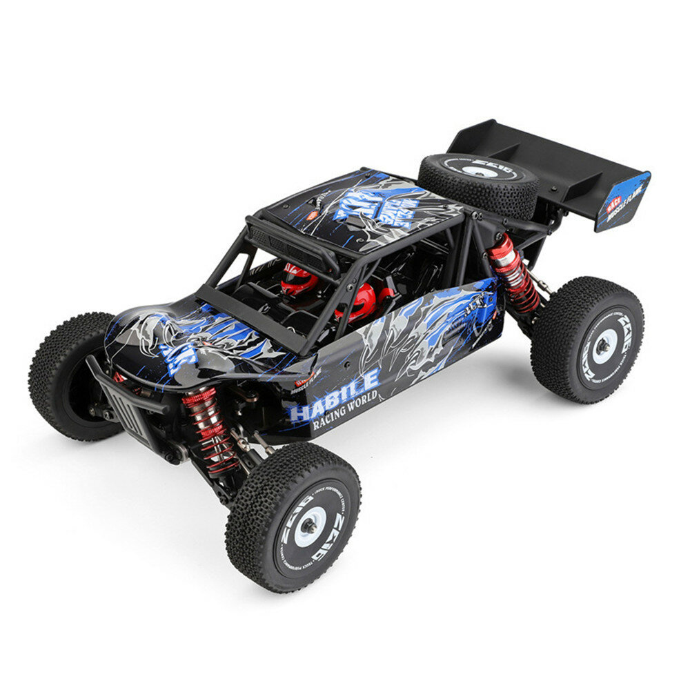 Wltoys 124018 1/12 2.4G 4WD 60 km / h Chasis de metal Off-Road RC Car RTR