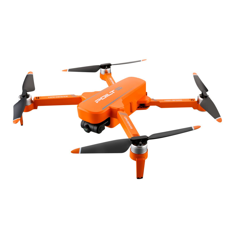 JJRC X17 6K 5G WIFI FPV GPS Brushless Foldable RC Drone with 2-axis Gimbal Dual Camera Optical Flow Positioning RTF - Orange Two Battery with Bag