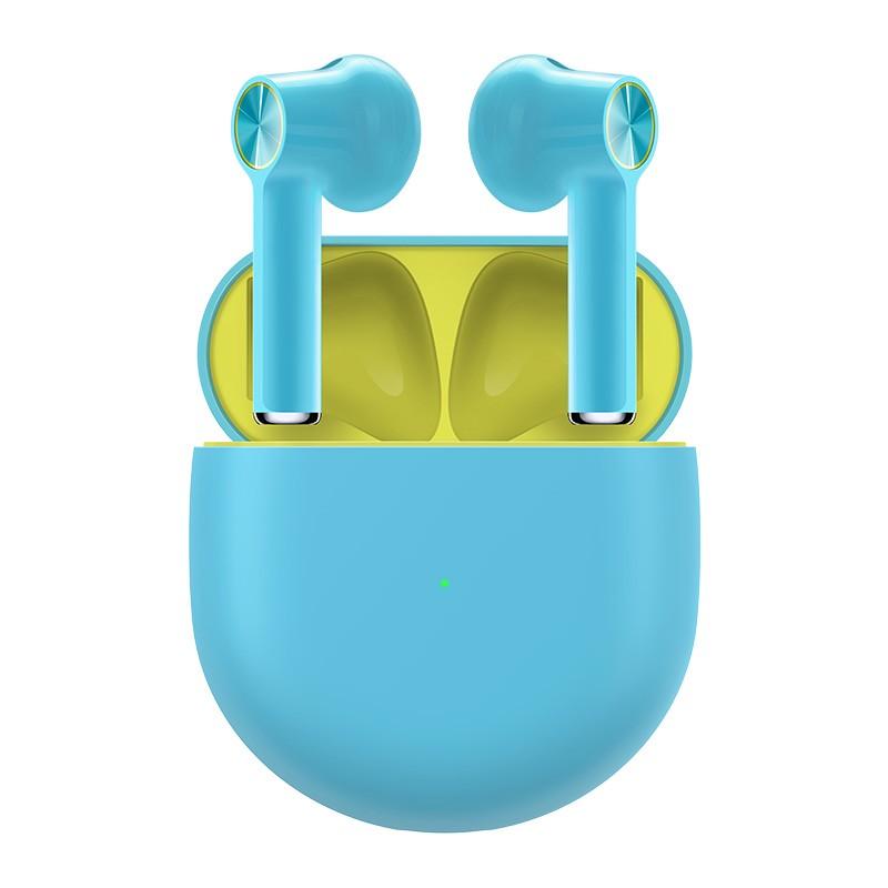 หูฟัง OnePlus Buds TWS Bluetooth 5.0 ENC การตัดเสียงรบกวนรองรับ Dolby Atoms ไดรเวอร์ไดนามิก 13.4 มม. อายุการใช้งานแบตเตอรี่ 30 ชั่วโมงกันน้ำ IPX4 - สีน้ำเงิน