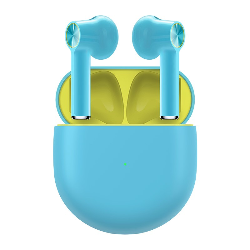 "OnePlus Buds TWS אוזניות Bluetooth 5.0 ENC ביטול רעש תמיכה באטומי דולבי 13.4 מ""מ דרייברים דינמיים 30 שעות חיי סוללה IPX4 עמיד במים - כחול"