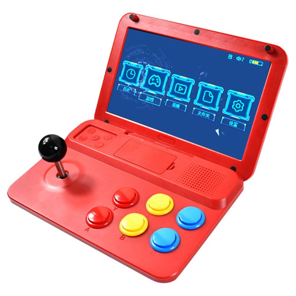 Powkiddy A13 Console de jeu vidéo Open Source Écran 10 pouces Manette de jeu rétro amovible Joystick Arcade avec carte TF 32G et 2500 jeux classiques