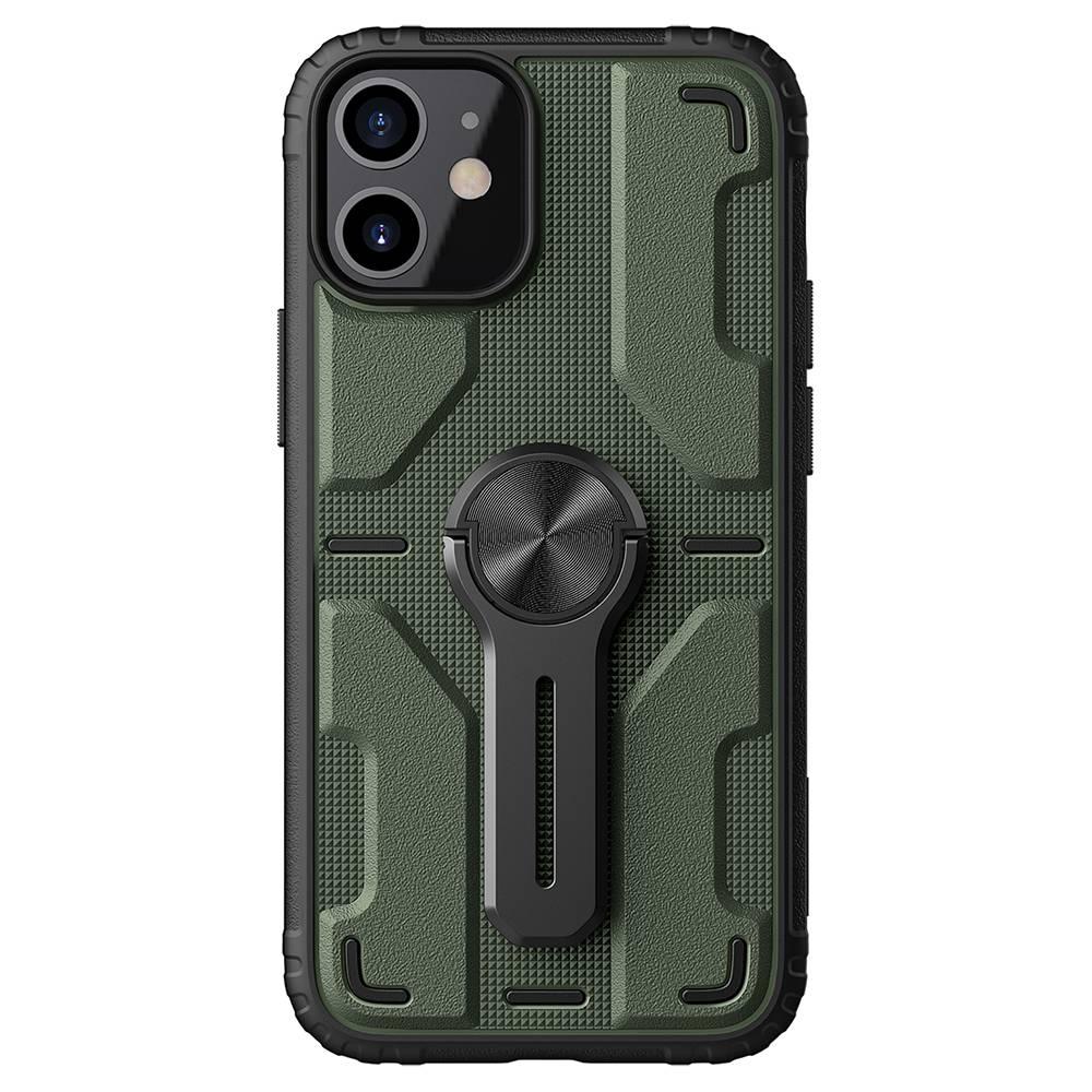 Zusammengebautes Standgehäuse Abnehmbares Standmodul Zuverlässiger Schutz für Apple iPhone 12 Mini - Grün