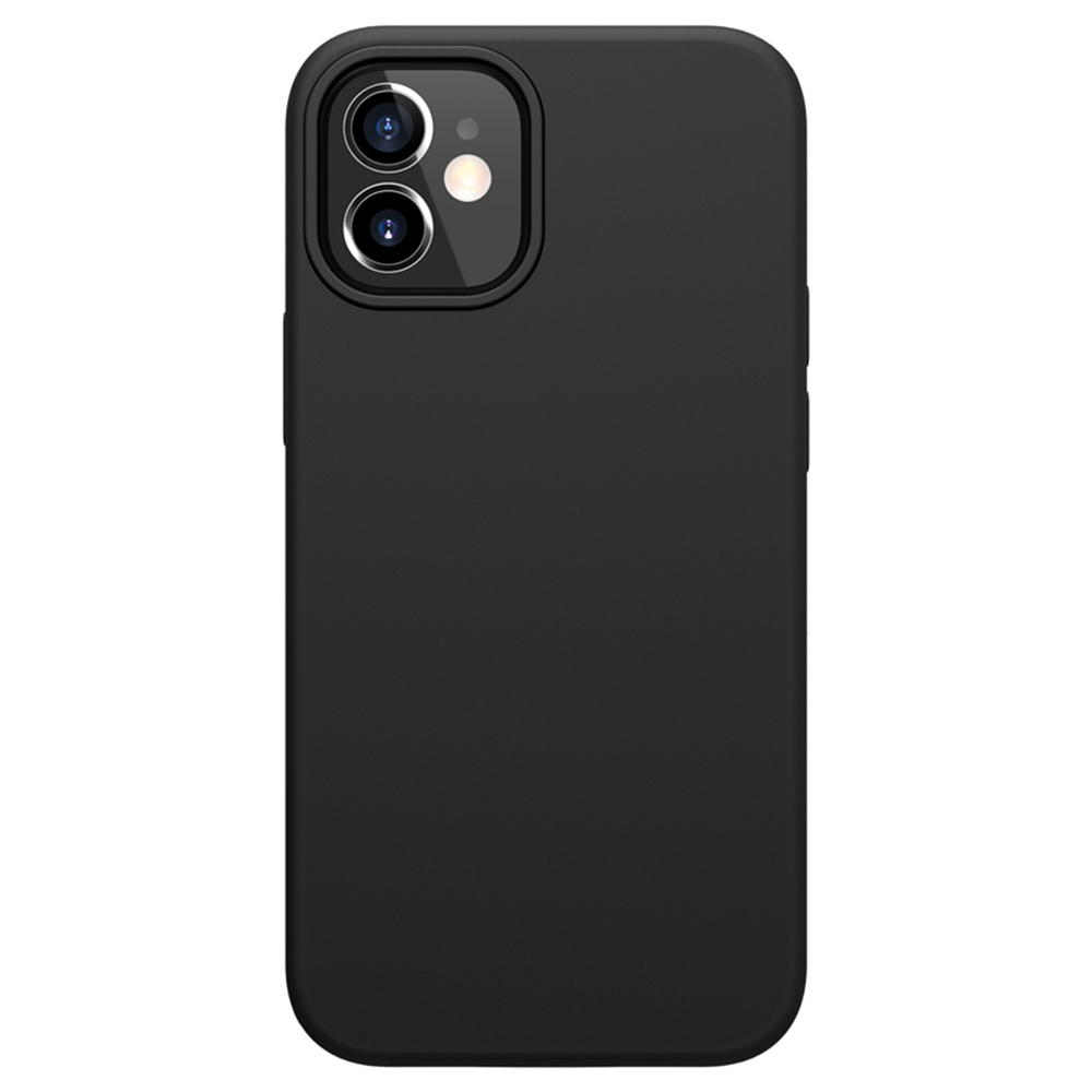 Liquid Pure Case aus flüssigem Silikonkautschuk für Apple iPhone 12 Mini - Schwarz