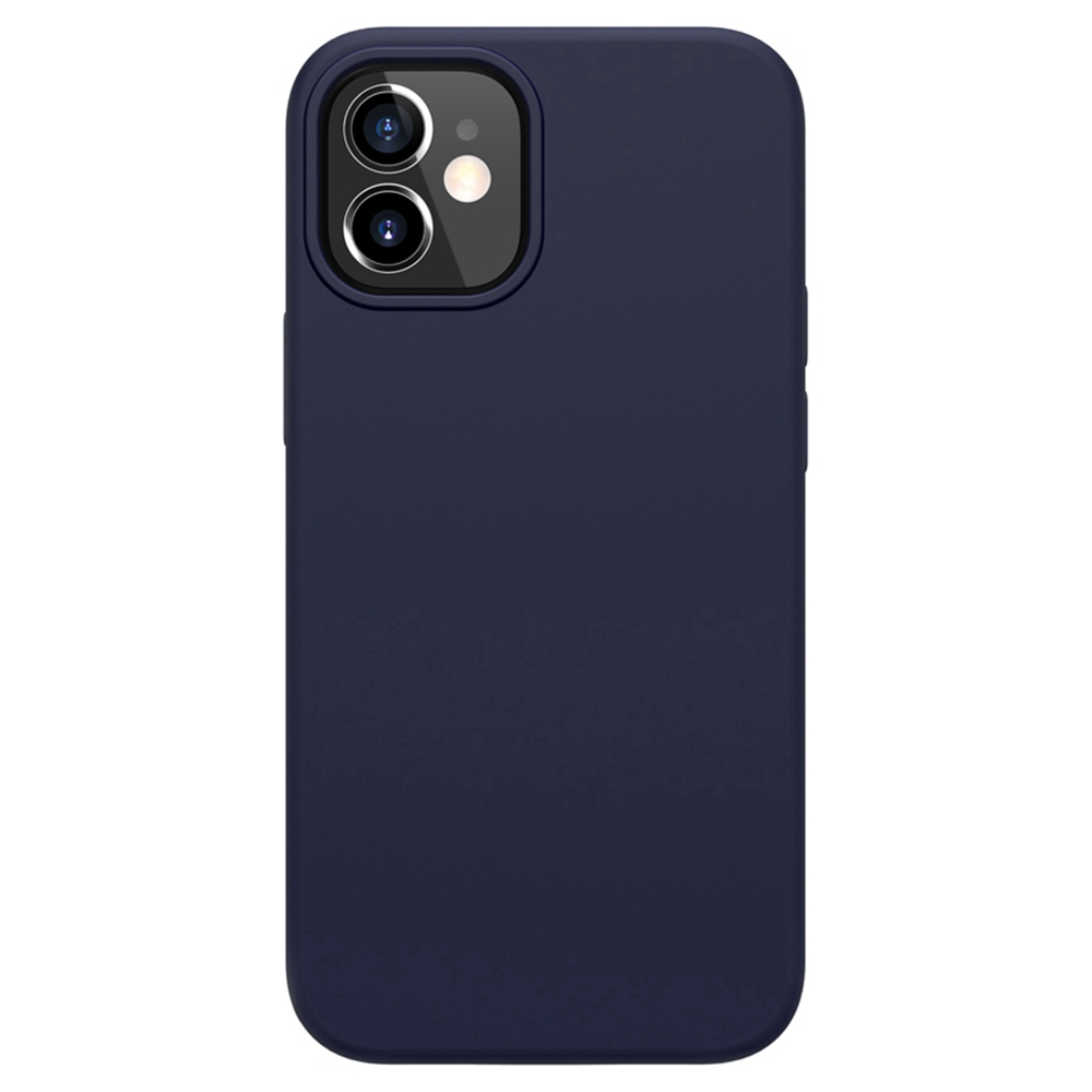 Flüssige Silikonkautschuk Flex Pure Hülle für Apple iPhone 12 Mini - Blau