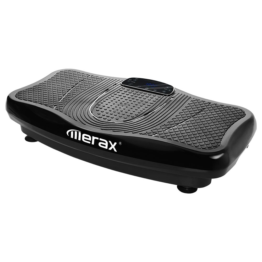 Merax Vibration Plate Lose Weight 2D Wipp Vibration Technology Bluetooth Music Training Straps-Black