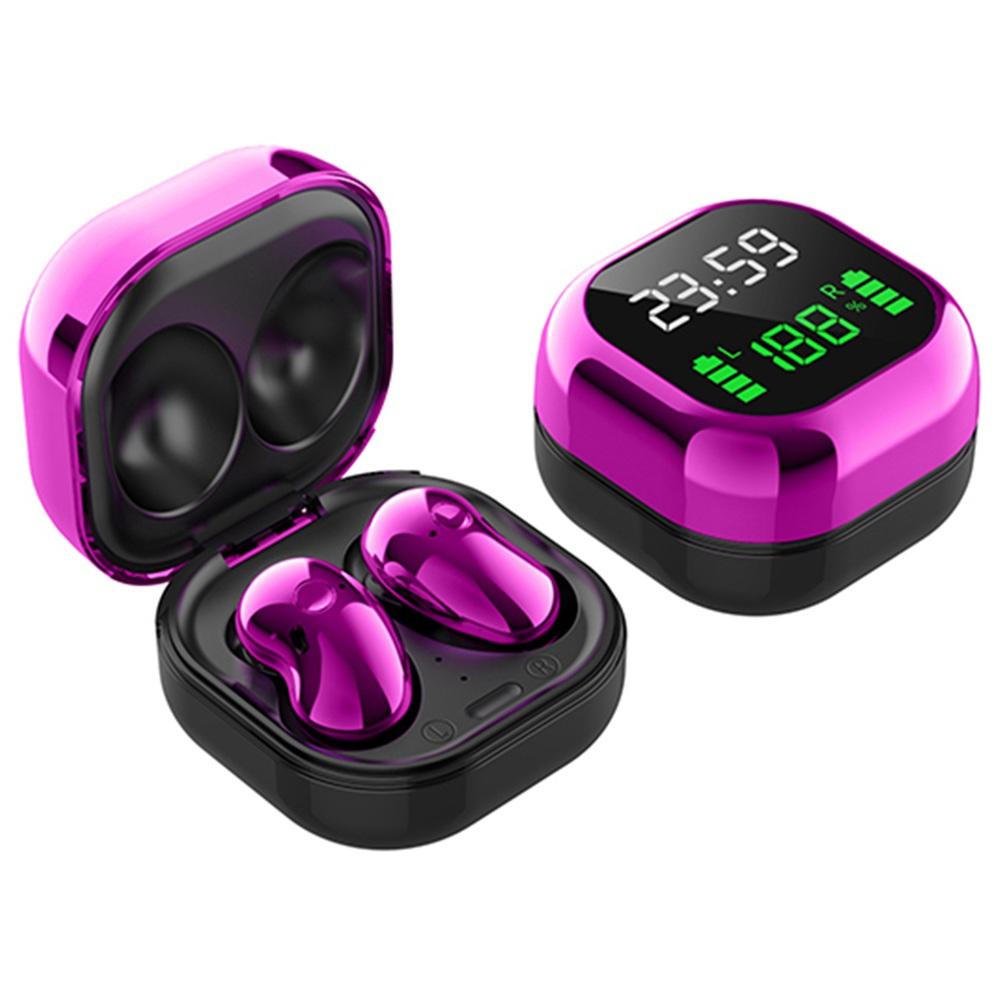S6 Plus Bluetooth 5.1 TWS Earphones With LED Display JIELI 6963 - Purple