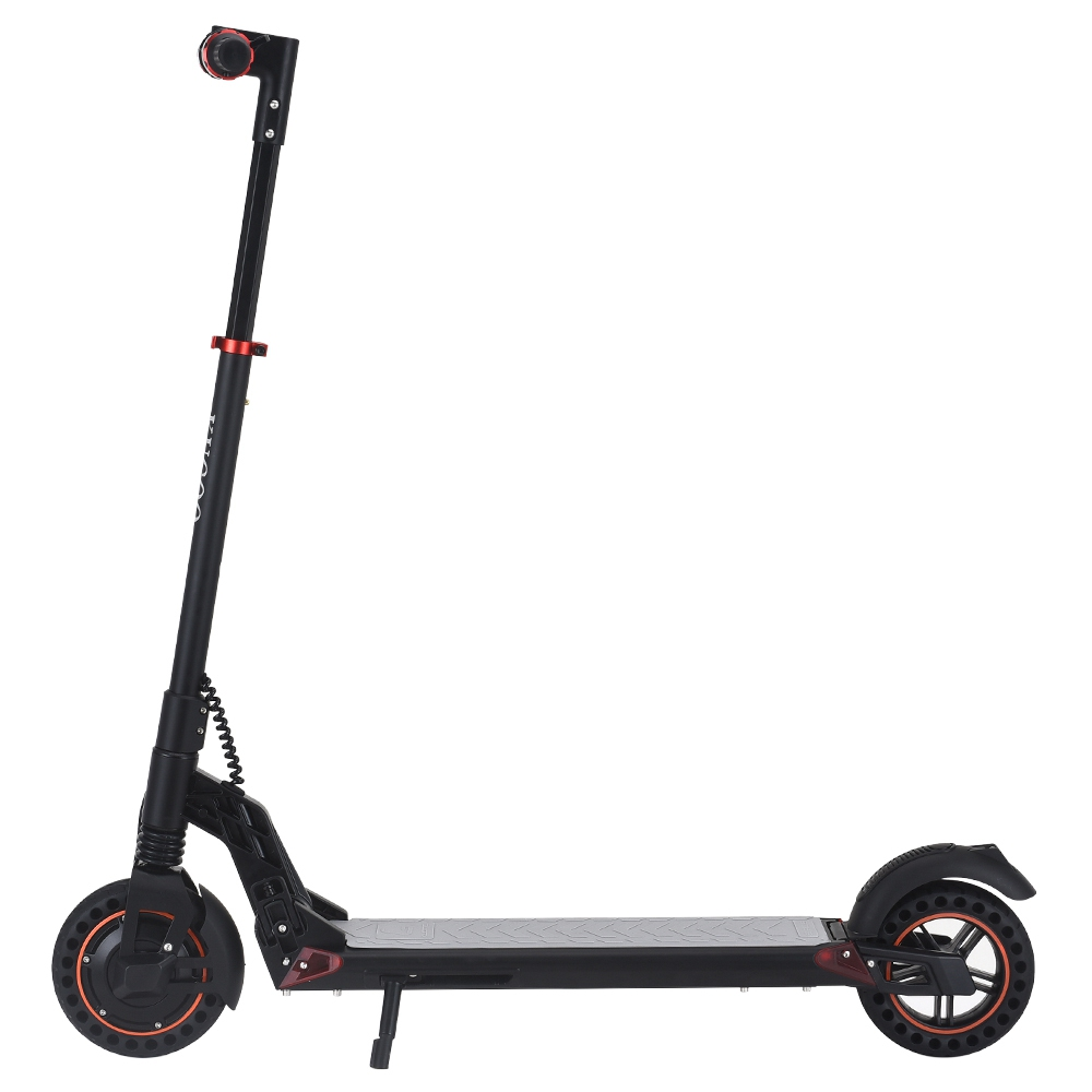 [Nieuwe collectie] KUGOO S1 Plus 8 inch opvouwbare elektrische scooter 350W motor 7.5Ah helder LCD-scherm Max 30 km / u 3 snelheidsmodi Max bereik tot 25 km Eenvoudig opvouwbaar - zwart