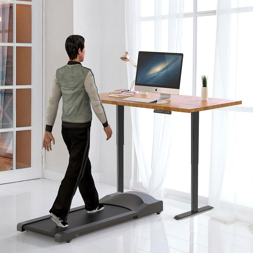 ACGAM Electric Standing Desk Frame Workstation, эргономичное регулируемое по высоте основание стола, черное (только рама)