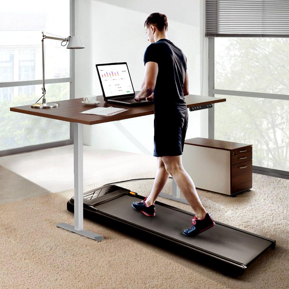 WalkingPad A1 Pro Walking Pad Smart Treadmill + ACGAM Electric Height Adjustable Desk Frame Серый