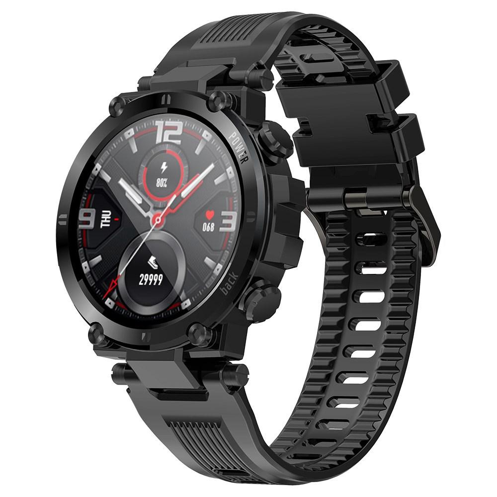 """Makibes D13 Smartwatch 1.3 """"TFT HD Full Round Screen Monitorowanie pulsoksymetrii Monitor snu IP68 Sport Wodoodporna aplikacja Obsługuje wiele języków - czarny"""