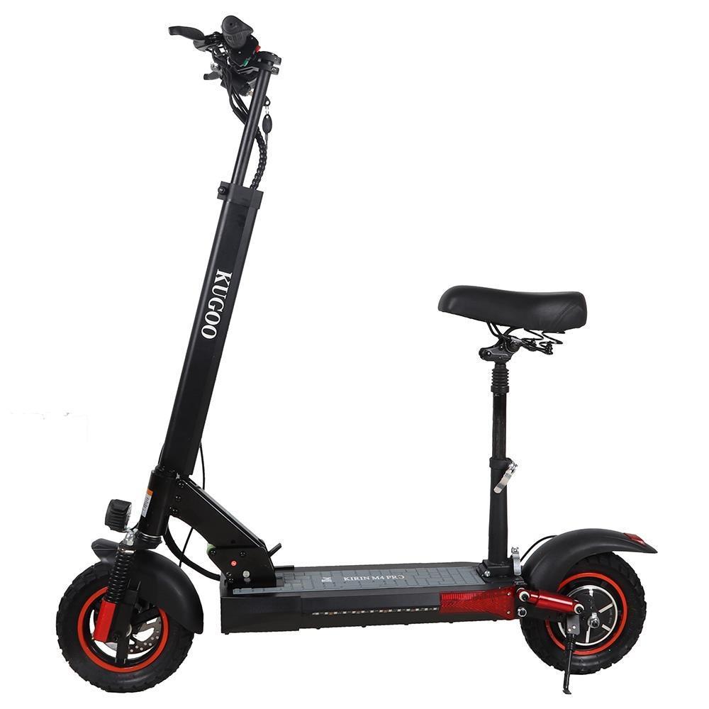 "KUGOO KIRIN M4 PRO opvouwbare elektrische scooter 10 ""off-road band 500W borstelloze motor 48V 18Ah batterij 3 snelheidsmodi Dubbele schijfrem Max.Snelheid 45KM / h LED-display 60KM lange afstand - zwart"