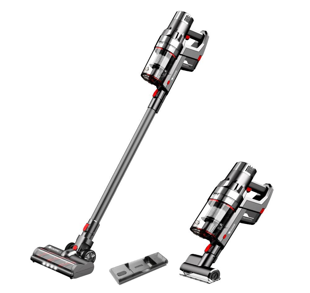 Proscenic P11 Handheld Cordless Vacuum Cleaner 2 in 1 Vacuuming Mopping 25KPa Suction Removable Water Tank 50min Running Time Touch Screen Rechargeabl