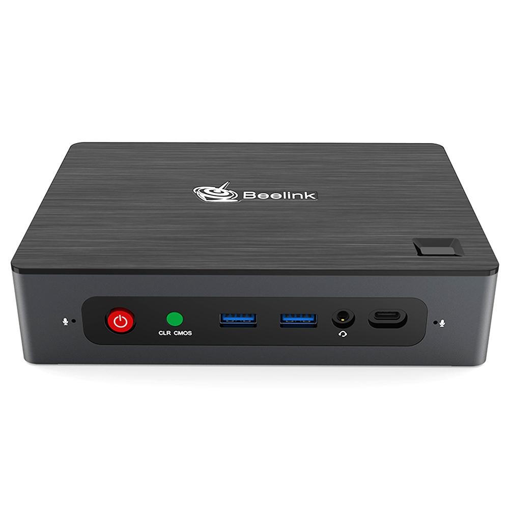 Beelink GTI Intel Core i5-8260U 3.9GHz 8GB RAM 256GB SSD Licensed Windows 10 Mini PC Intel® UHD Graphics 620 HDMI 4K@30Hz DP 1.2 4K@60Hz Type C WIFI 6 Bluetooth RJ45*2 Supports M.2 SSD 2.5inch HDD