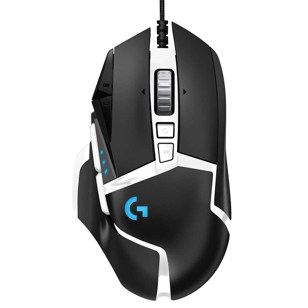 Logitech G502 SE Hero Wired Gaming Mouse 16000DPI Με 16.8 εκατομμύρια Backlight Hero 16K Sensor - Μαύρο