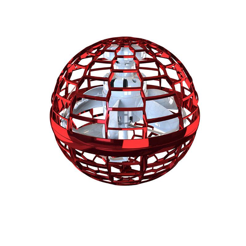 2 SZTUK Flynova Pro Latający Spinner Boomerang Interaktywne zabawki z obrotem o 360 stopni Dynamiczne światła RGB - czerwony + różowy