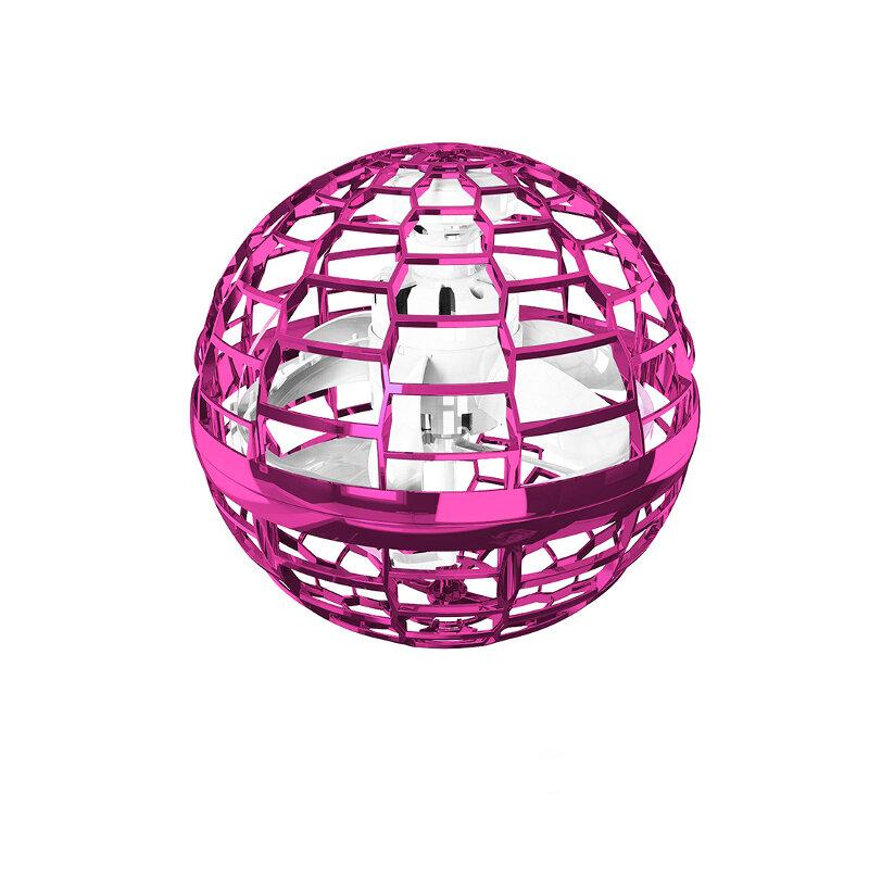 Jouets interactifs Flynova Pro Flying Spinner Boomerang avec lumières RVB dynamiques à rotation à 360 degrés - Rose